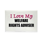 I Love My WELFARE RIGHTS ADVISER Rectangle Magnet