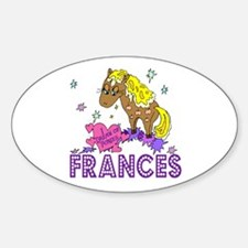 I Dream Of Ponies Frances Oval Decal