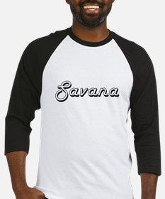 Savana Classic Retro Name Design Baseball Jersey