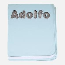 Adolfo Wolf baby blanket