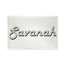 Savanah Classic Retro Name Design Magnets