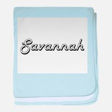 Savannah Classic Retro Name Design baby blanket
