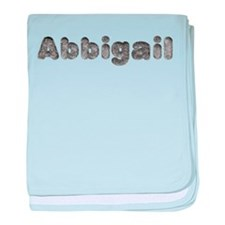 Abbigail Wolf baby blanket