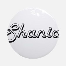 Shania Classic Retro Name Design Ornament (Round)