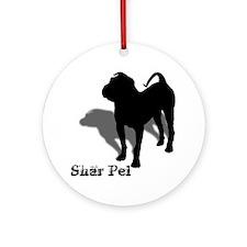 Shar Pei Silhouette Ornament (Round)