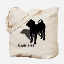 Shar Pei Silhouette Tote Bag
