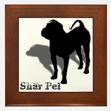Shar Pei Silhouette Framed Tile