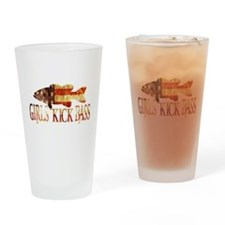 GIRLS KICK BASS Drinking Glass