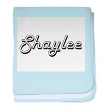 Shaylee Classic Retro Name Design baby blanket