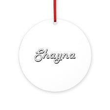 Shayna Classic Retro Name Design Ornament (Round)