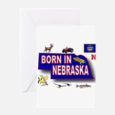 NEBRASKA BORN Greeting Cards