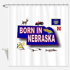 NEBRASKA BORN Shower Curtain