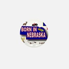 NEBRASKA BORN Mini Button