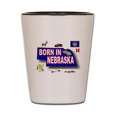 NEBRASKA BORN Shot Glass