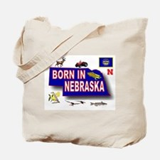 NEBRASKA BORN Tote Bag