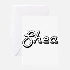 Shea Classic Retro Name Design Greeting Cards