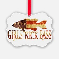 GIRLS KICK BASS Ornament