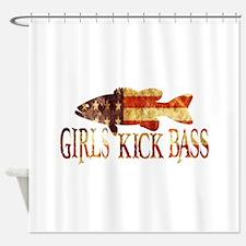 GIRLS KICK BASS Shower Curtain