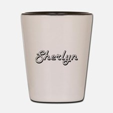 Sherlyn Classic Retro Name Design Shot Glass