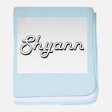 Shyann Classic Retro Name Design baby blanket