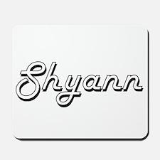 Shyann Classic Retro Name Design Mousepad