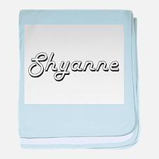 Shyanne Classic Retro Name Design baby blanket
