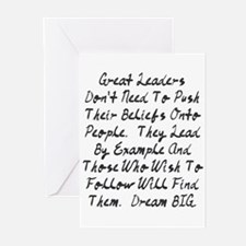 Lead By Example Greeting Cards