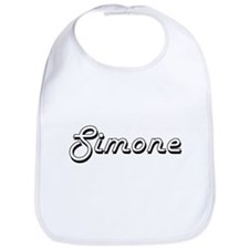 Simone Classic Retro Name Design Bib
