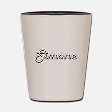 Simone Classic Retro Name Design Shot Glass