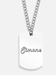 Simone Classic Retro Name Design Dog Tags