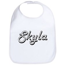 Skyla Classic Retro Name Design Bib