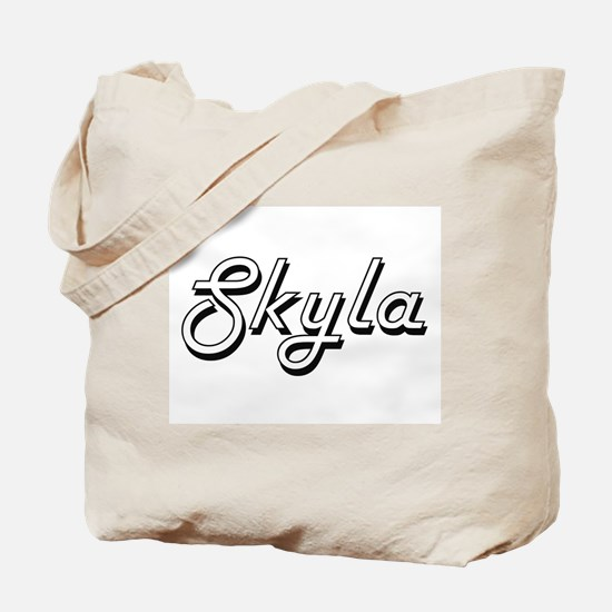 Skyla Classic Retro Name Design Tote Bag