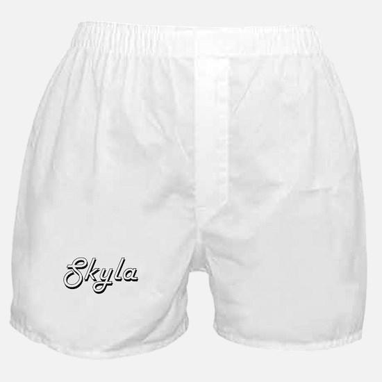 Skyla Classic Retro Name Design Boxer Shorts