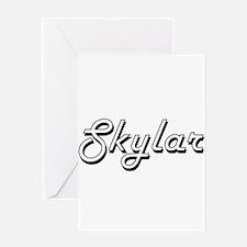 Skylar Classic Retro Name Design Greeting Cards