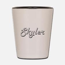 Skyler Classic Retro Name Design Shot Glass