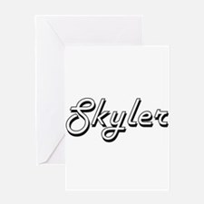 Skyler Classic Retro Name Design Greeting Cards