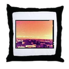glasgow skyline Throw Pillow