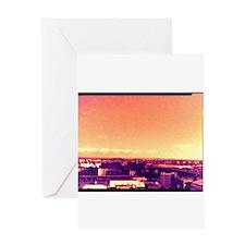 glasgow skyline Greeting Cards