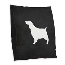 Springer Spaniel Burlap Throw Pillow