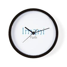 Imani Baby Blue Wall Clock