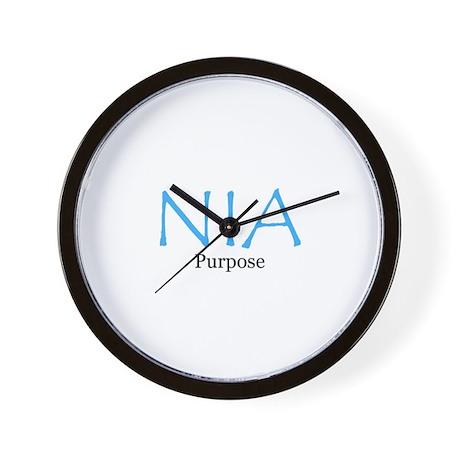NIA Baby Blue Wall Clock