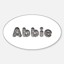 Abbie Wolf Oval Decal