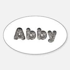 Abby Wolf Oval Decal