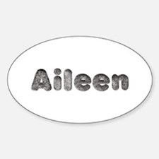 Aileen Wolf Oval Decal