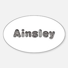 Ainsley Wolf Oval Decal