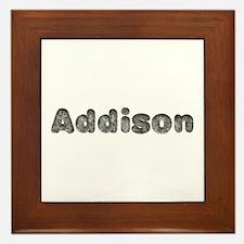 Addison Wolf Framed Tile