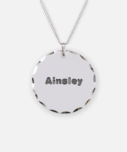 Ainsley Wolf Necklace Circle Charm
