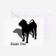 Shar Pei Silhouette Greeting Card