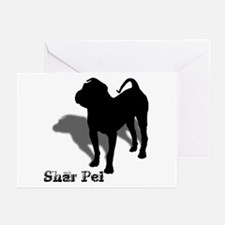 Shar Pei Silhouette Greeting Cards (Pk of 10)