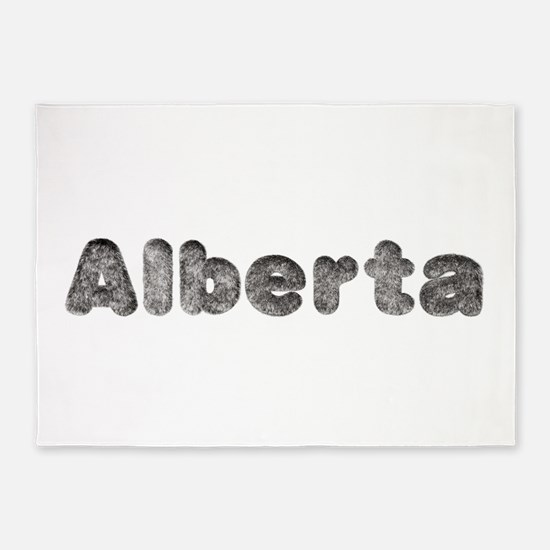 Alberta Wolf 5'x7' Area Rug